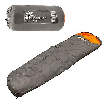 Milestone Mummy 2 Season Sleeping Bag Single Grey 210 x 75cm
