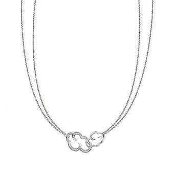 Vixi DayDream Gekoppeld cloud zilveren hanger ketting Dames sieraden LINK-N. W
