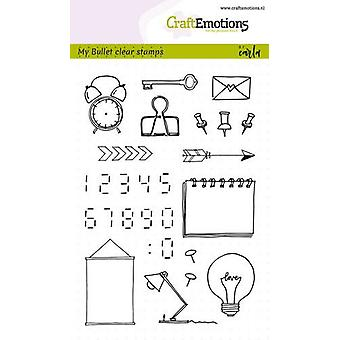 Craftemotions Clear Stamps A6 - Bullet Journal - Immagini-Cifre di Carla Kamphuis