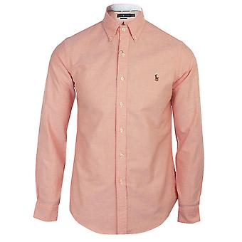 Ralph lauren men's orange oxford shirt