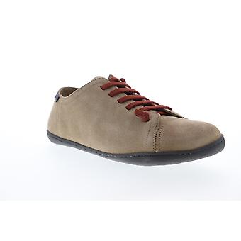 Camper Peu Cami  Mens Brown Suede Lace Up Low Top Sneakers Shoes