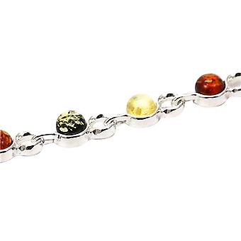 Das Olivia Collection Sterling Silber Tri-Color Bernstein Armband
