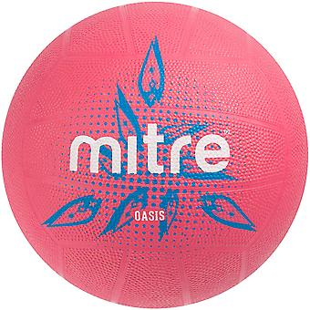Mitre Oasis Indoor Latex Rubber Netball Ball Pink