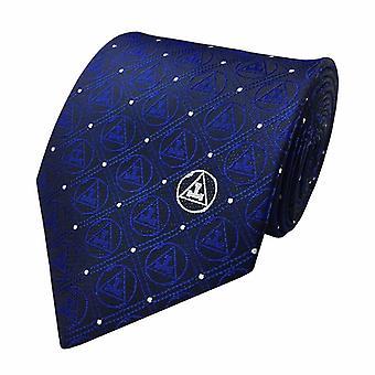 Neue Design Freimaurer regalia Seide Krawatte mit königlichen Bogen dreifach Tau Herren Krawatte
