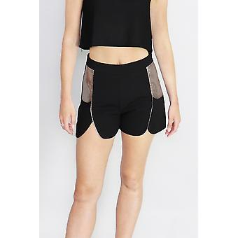 Serpent siren black shorts