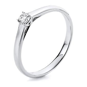 Diamond Ring Ring - 14K 585/- White Gold - 0.15 ct. - 1A440W450 - Ring width: 50