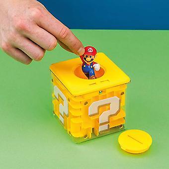 Super Mario Question Mark Blocks Maze Money Box with Figure