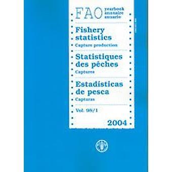 Annuaire de la FAO [des] statistiques de la pêche - capture de la production 2004 par Food