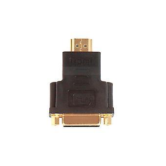 Adaptador hembra HDMI macho a DVI-D de un solo enlace, compatible con la tarjeta de vídeo de ordenador's, reproductor de DVD, reproductor de discos Blu-Ray de Monoprice