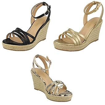 Spot On Womens/Ladies Rope Wedge Strappy Sandals