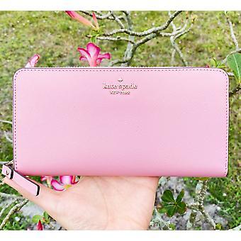 Kate spade laurel way neda zip around continental wallet bright carnation pink