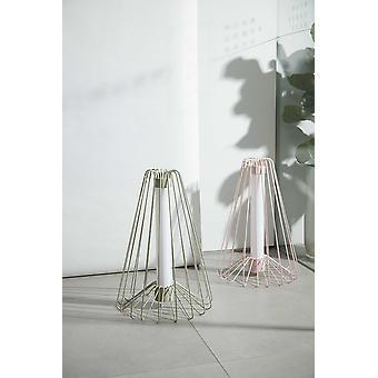 """48"""" x 67"""" x 48"""" Pink Steel  Floor Lamp"""