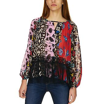 Dixie Women's Multicolor Blouse With Fringes