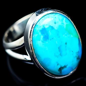 Arizona Turquoise Ring Size 7.25 (925 Sterling Silver)  - Handmade Boho Vintage Jewelry RING5435