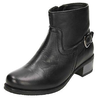 Comfort Plus Leather Ankle Boots Wide E Fitting Low Heel