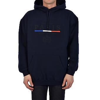 Balenciaga 570811tgv498065 Men's Blue Cotton Sweatshirt