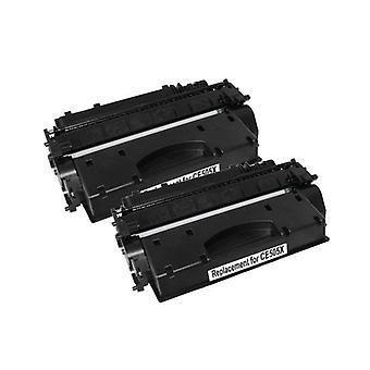 CE505X HP 05X Cart 319ii Black Premium Generic Toner Set of 2