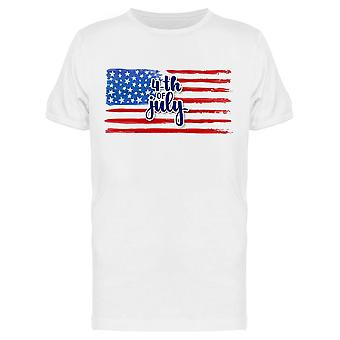 Watercolor Flag 4th Of July Tee Men's -Image by Shutterstock