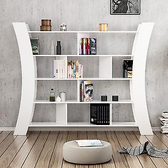 Libreria Inner Color Bianco in Truciolare Melaminico 188x33x150 cm