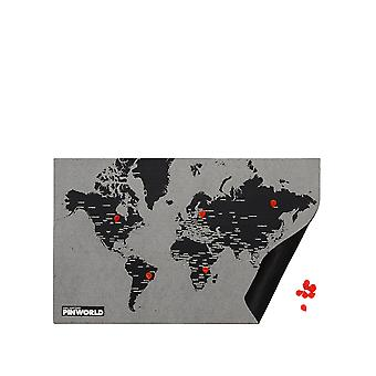 Palomar Unisex Pin World By Cities Map Mini