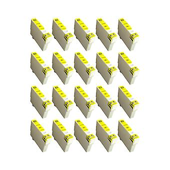 RudyTwos 20x Replacement for Epson 16XL(Pen) Ink Unit Yellow Compatible with Workforce WF-2010W, WF-2510WF, WF-2520NF, WF-2530WF, WF-2540W, WF-2540WF, WF-2630WF, WF-2650DWF, WF-2660DWF, WF-2750DWF, WF