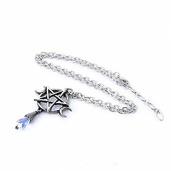 Alchemy - goddess - crystal wiccan pendant