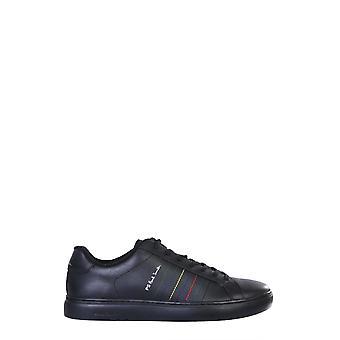 Ps Door Paul Smith M2srex10amlux79 Men's Black Leather Sneakers