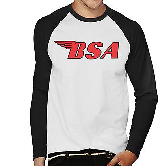 BSA Red Logo Men's Baseball Long Sleeved T-Shirt