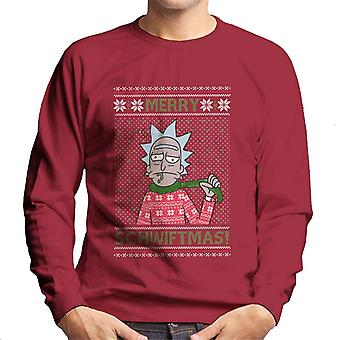 Rick and Morty Christmas Merry Schwiftmas Men's Sweatshirt