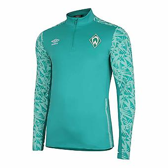 2020-2021 Werder Bremen Half Zip Top (Verde)