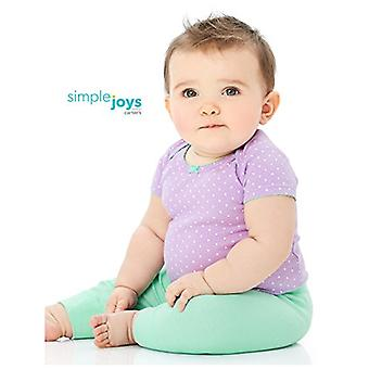 Simple Joys by Carter's Baby Girls 4-Pack Pant, Pink/Grey, 0-3 Months