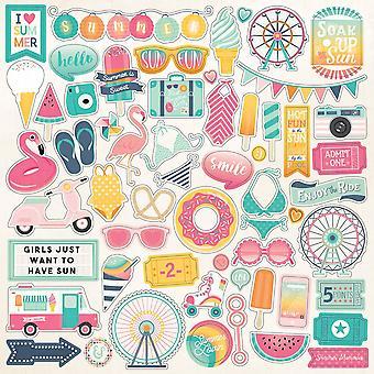Echo Park Sommer Träume 12 x 12 Zoll Element Aufkleber