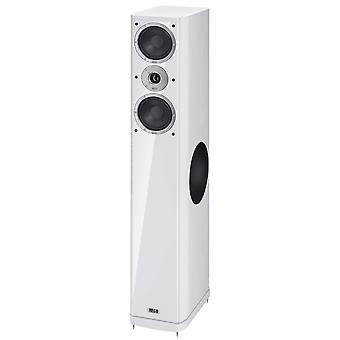 Heco Music Style 800, floorstanding speaker, 3 ways bass reflex with sidefire bass, color: white, 1 pair of new goods