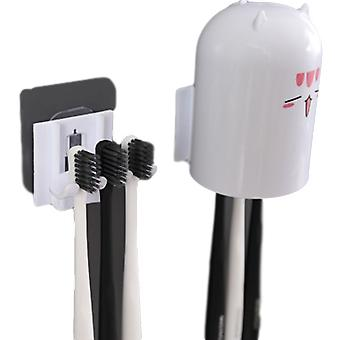 Automatic Toothpaste Dispenser & Dust Proof Toothbrush Holder