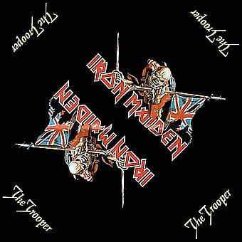 Iron Maiden Bandana The Trooper Logo Official New Black (21in x 21in)
