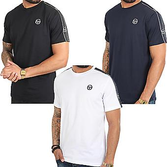 Sergio Tacchini Mens Feather Short Sleeve Casual Crew Neck Taped T-Shirt Top Tee