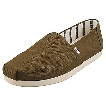 Toms Alpargata Mens Espadrille Shoes in Olive
