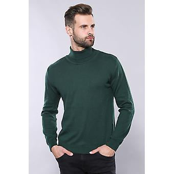 Turtleneck green sweater | wessi