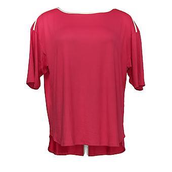 Câlin Duds Femmes's Petite Cozy Knit Shot Sleeve Rose A373982