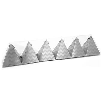 Celebration Silver Charm Festive Party Pyramids
