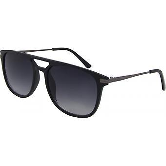 Sonnenbrille Unisex  Wayfarer Kat. 3 matt schwarz/grau (8310-A)