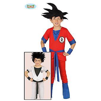 Boys Carnival Mercenary Warrior için Guirca Kırmızı Ninja Fighter Kostüm
