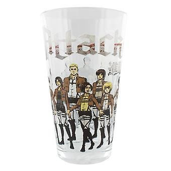 Pint Glass Attack On Titan Training Regiment Group 16oz-aot-group