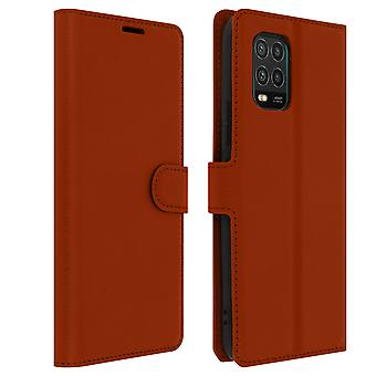 Case for Xiaomi Mi 10 Lite Card Holder and Video Support - Brown