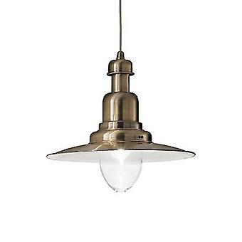 Ideel Lux Fiordi - 1 Lys Dome Loft Vedhæng Bronze, E27