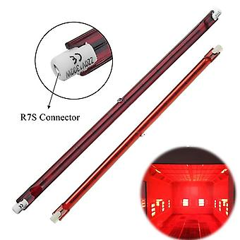 1 Pc/254mm Ac 1300w Halogen Quartz Ruby, R7s Infra-red Heater Bar Tube Pipe