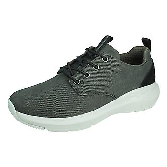 Skechers Parson Mentego Mens Casual Trainers Relaxed Fit - Zwart