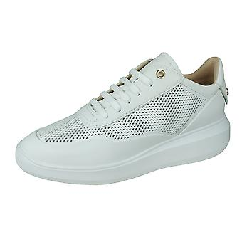 Geox D Rubidia A Womens Nappa Leather Trainers - White