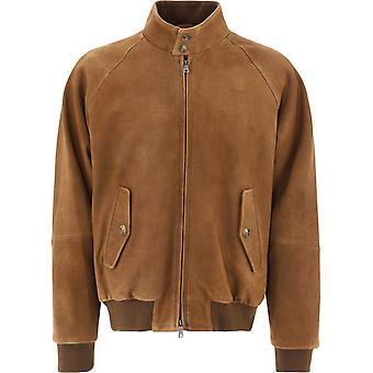 Baracuta Brcps0766ut2451706 Men's Brown Leather Outerwear Jacket