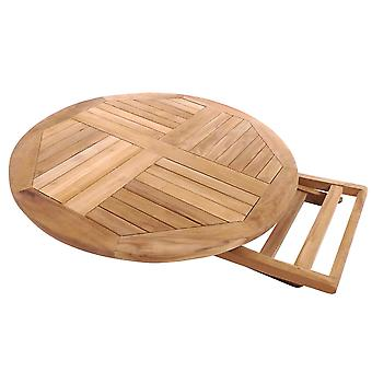Charles Bentley Solid Drewniany Teak Round 2-4 Seater Table Garden Składane patio